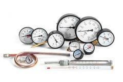 压力的测量的测压器 免版税图库摄影
