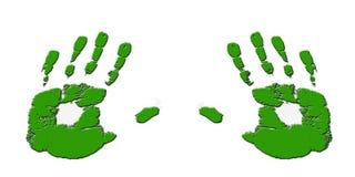 压印的绿色现有量 库存照片