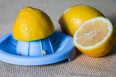 紧压柠檬汁 免版税库存图片