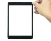 压片有在白色隔绝的黑屏的计算机1 免版税库存图片