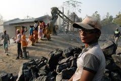 压碎器印度最小值 库存照片