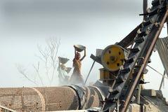 压碎器印度石头 库存照片