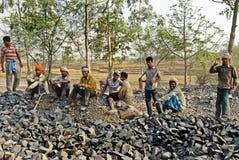 压碎器印度石头 图库摄影