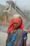 压碎器印度石头 免版税库存图片