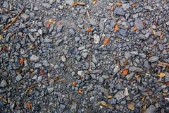 压碎岩不同的形状和大小 免版税库存图片