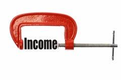 压缩收入 库存图片