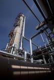 压缩机气体管道工厂塔 库存图片