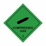 压缩气体标志传染媒介设计 库存图片
