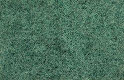 压缩的纤维特写镜头,绿色抽象backgro巴恩海绵  库存照片