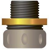 压缩适合的水管修理 免版税图库摄影
