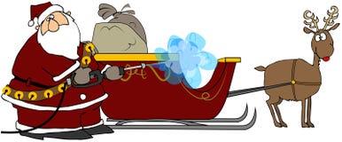 压s圣诞老人洗衣机 皇族释放例证