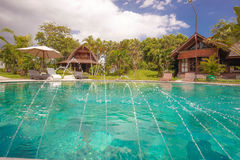 巴厘岛别墅 库存照片