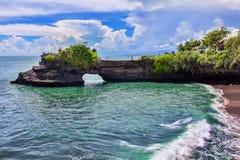 巴厘岛印度尼西亚批次tanah寺庙 库存照片
