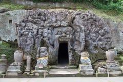 巴厘岛大象洞,果阿Gajah 免版税库存照片