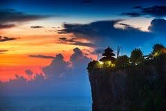 巴厘岛寺庙uluwatu 库存图片