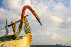 巴厘岛小船细节 免版税图库摄影