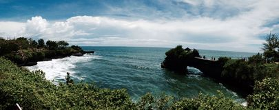 巴厘岛暗藏的paradisd寺庙  免版税库存图片