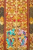 巴厘岛木头雕刻 免版税图库摄影