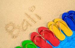 巴厘岛海滩凉鞋 免版税图库摄影