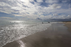 巴厘岛海滩印度尼西亚kuta 库存照片