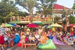 巴厘岛海滩酒吧 免版税图库摄影