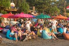 巴厘岛海滩酒吧 库存照片
