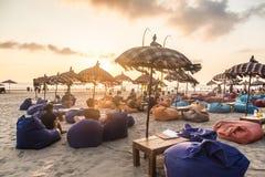 巴厘岛海滩酒吧 免版税库存图片
