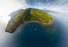 巴厘岛的空中全景 免版税图库摄影