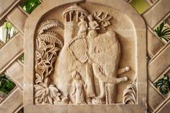 巴厘岛石灰石雕刻。 库存图片