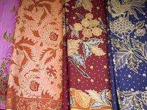 巴厘岛蜡染布样式 免版税库存照片