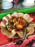 巴厘岛街道食物 免版税库存图片