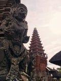 巴厘岛雕象寺庙 库存照片