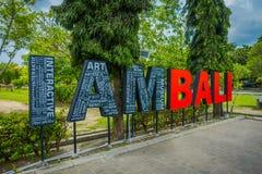 巴厘岛,印度尼西亚- 2017年3月08日:情报词在登巴萨,巴厘岛,印度尼西亚,印度尼西亚 免版税库存图片