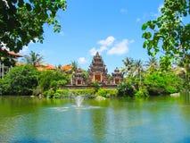 巴厘岛,印度尼西亚- 2008年12月25日:盐水湖和公园Ayodya手段的 免版税库存照片