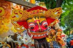 巴厘岛,印度尼西亚- 2017年3月08日:Impresive手工制造结构,为Ngrupuk游行塑造的Ogoh-ogoh雕象,  库存图片
