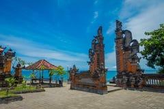 巴厘岛,印度尼西亚- 2017年3月05日:Pura Ulun Danu Bratan是在巴厘岛,印度尼西亚的一个主要Shivaite和水寺庙 免版税库存图片