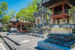 巴厘岛,印度尼西亚- 2017年3月11日:Uluwatu寺庙,在巴厘岛,印度尼西亚,在一美好的天 图库摄影