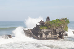 巴厘岛, tanah全部寺庙 免版税库存图片