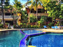 巴厘岛水池 库存图片