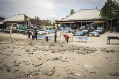 巴厘岛-污染 库存照片