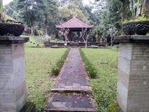 巴厘岛Bedugul庭院  库存照片