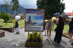 巴厘岛danu寺庙ulun 免版税库存图片