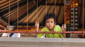 巴厘语女孩画象 免版税图库摄影