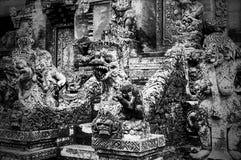 巴厘语寺庙雕塑 免版税图库摄影