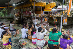 巴厘语寺庙仪式 库存照片