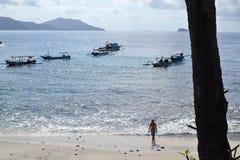 巴厘语海滩 库存图片