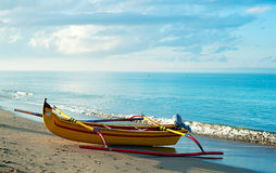 巴厘语渔船 库存照片