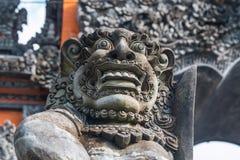 巴厘语特写镜头神雕象 免版税库存照片