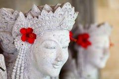 巴厘语雕象 库存照片