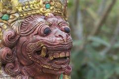 巴厘语雕象 免版税图库摄影